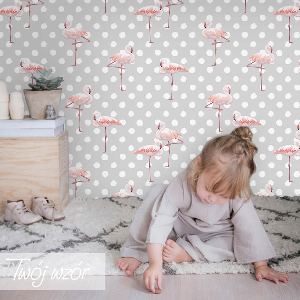 fototapeta we flamingi
