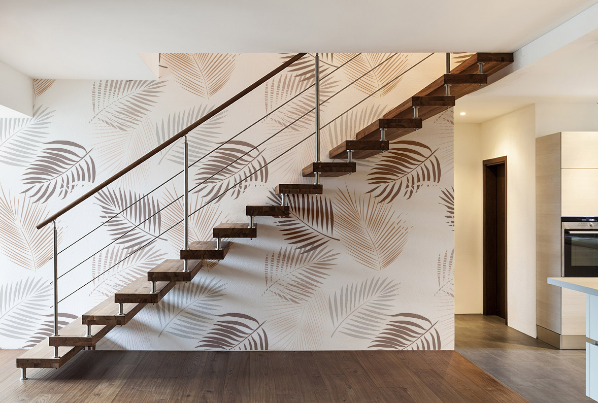 Beautiful modern loft, staircase view