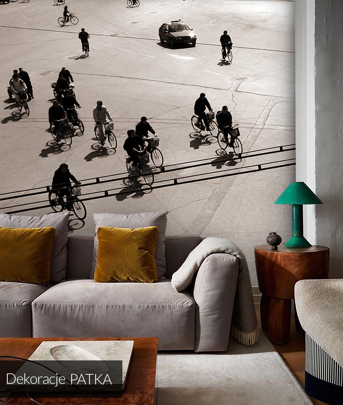 designerska-fototapeta-z-rowerami-na-ulicy-patrycja-kita-dekoracje-patka