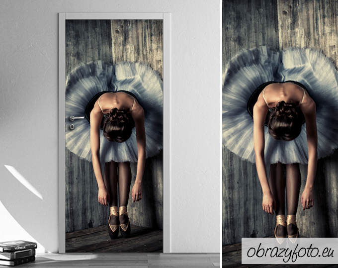 naklejka-na-drzwi-baletnica