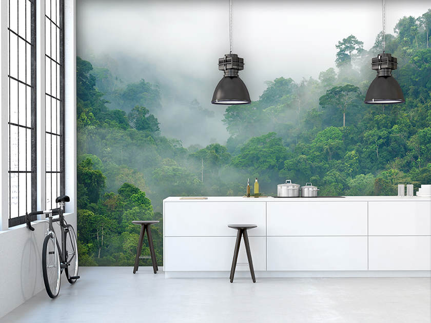 interior, beautiful kitchen of an old loft. 3d rendering