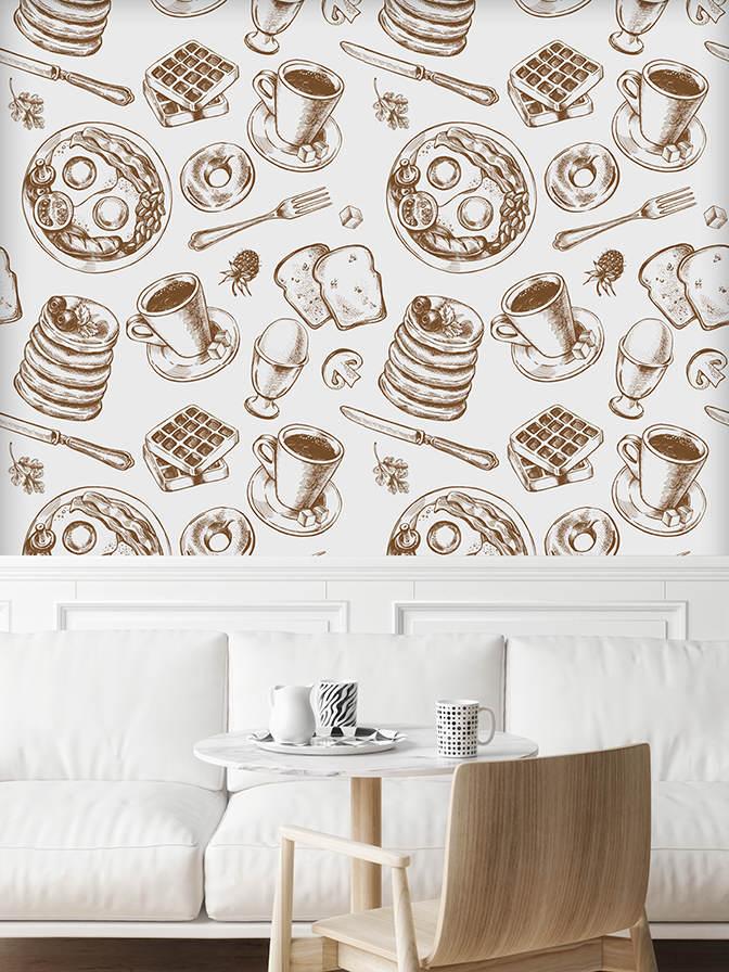 Mock up poster in cafe, 3D illustration