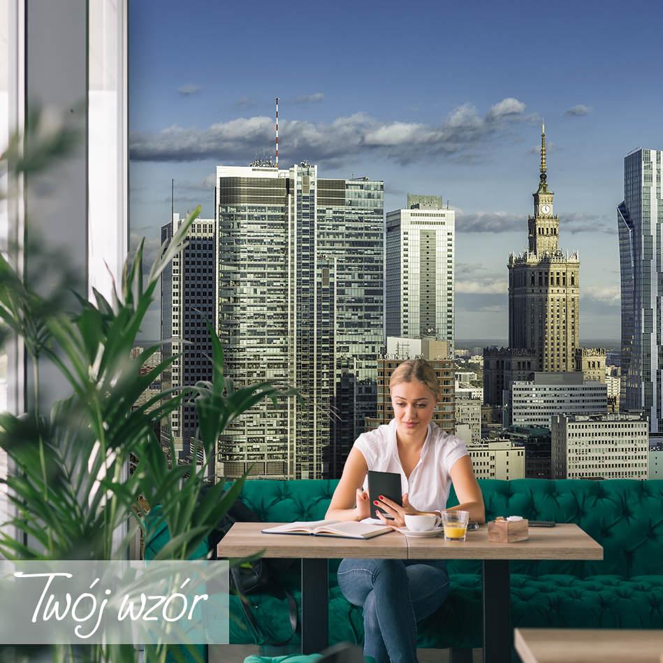 fototapeta z panoramą Warszawy