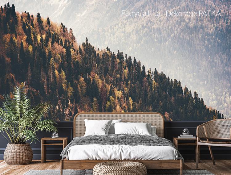 Fototapeta jesienny las na wzgórzu