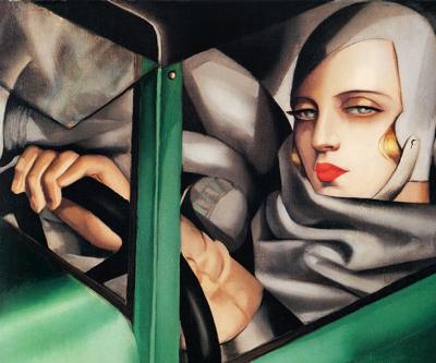Tamara Łempicka - Autoportret w Zielonym Bugatti  - wf1184