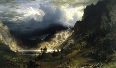 Burza w Górach Skalistych - Albert Bierstadt, - wf1294