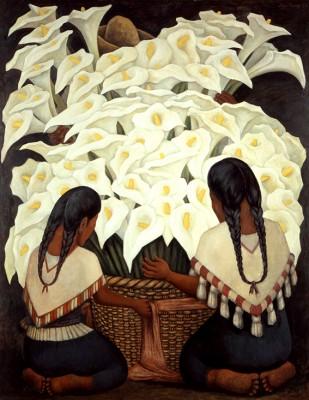 Calla Lily Vendor Diego  Rivera - wf1297