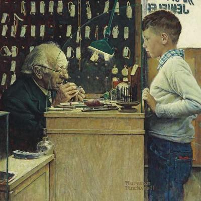 Zegarmistrz - Norman Rockwell - wf1099