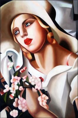 Tamara Łempicka - Z Kwiatami - wf1187