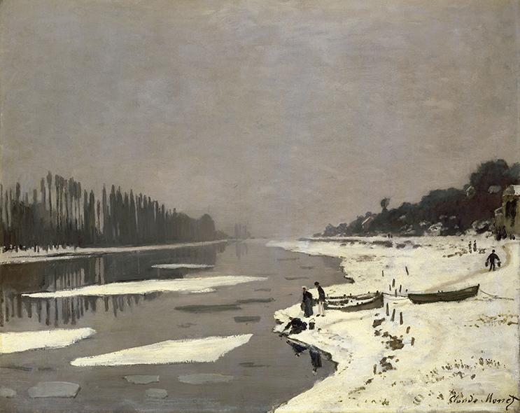Lód na Sekwanie Bougival - Claude Monet - wf1056