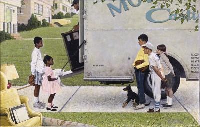 Nowe Dzieci w Okolicy - Norman Rockwell - wf1095