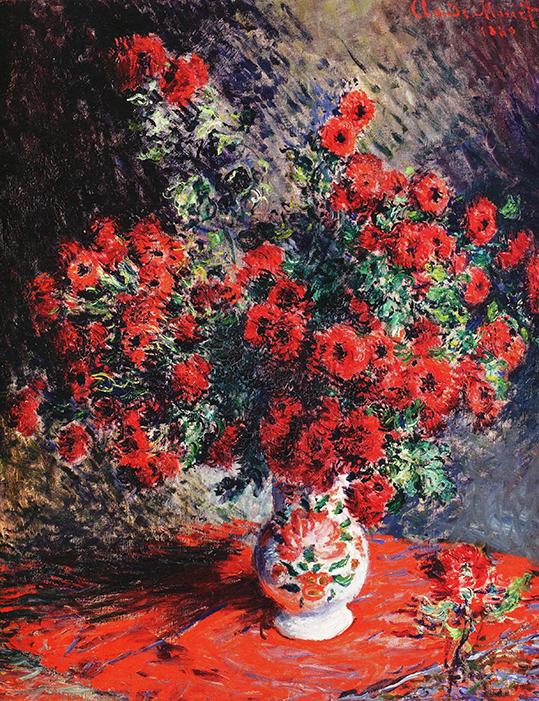 Czerwone Chryzantemy - C. Monet - wf1740