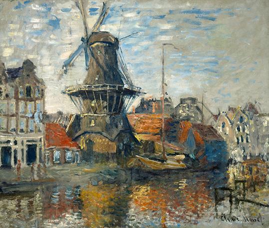 Wiatrak w Amsterdamie - C. Monet - wf1744