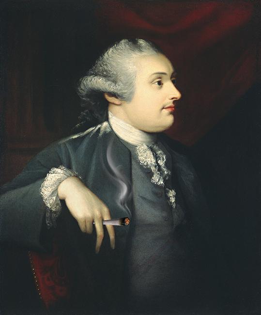 Portret Mężczyzny z jointem - wf1809