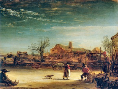 Rembrandt - Zimowy Krajobraz - wf1057