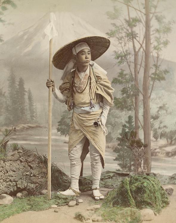 Portret na tle Fudżi, autor nieznany, foto z 1890 - 1894r. - wf587
