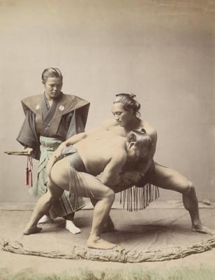 Japońscy Zapaśnicy, fotografia z ok. 1871 - ok. 1885 - wf944
