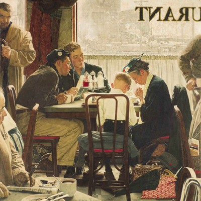 Saying Grace - Norman Rockwell - wf1096