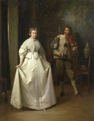 Taniec, Aimé Gabriel Adolphe Bourgoin, 1870r.  - wf909