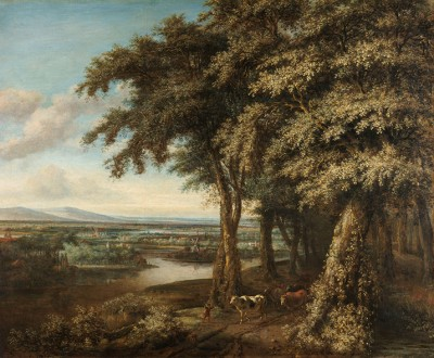 Wejście do lasu, Philips Koninck, 1650-1688r. - wf902