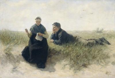 Na Wydmach, David Adolph Constant Artz, 1870 - 1890r. - wf924