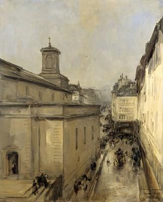 Widok Notre Dame, Antoine Vollon, ok. 1860 - ok. 1900r. - wf980