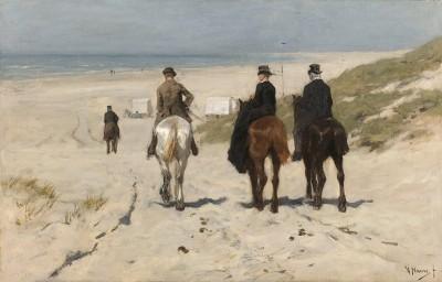Poranna Przejażdżka Po Plaży, Anton Mauve, 1876r. - wf927