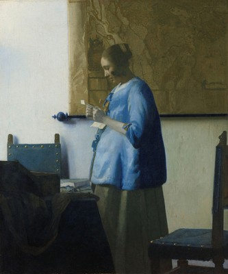 Kobieta Czytająca List - Johannes Vermeer - wf643