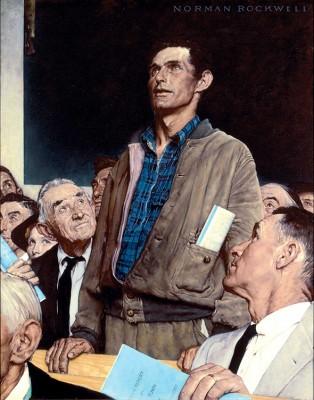 Wolność słowa - Norman Rockwell - wf1094