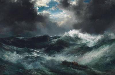 Wrak statku na morzu - Thomas Moran - wf1084